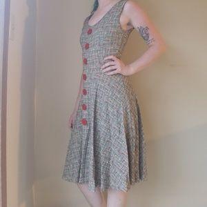 Effie's Heart polka dot sleeveless dress